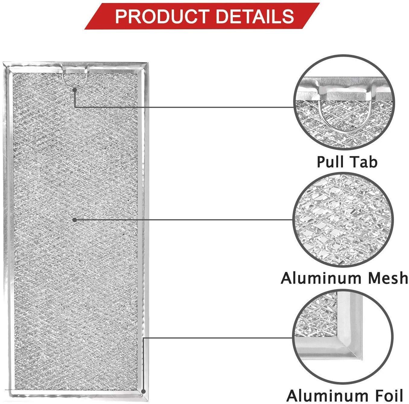 IRolen - Filtro de repuesto de malla de aluminio para horno microondas Whirlpool W10208631A AP5617368 WB06X10596 compatible con capó GE Microwaves, 2 filtros (empaquetado en caja): Amazon.es: Bricolaje y herramientas