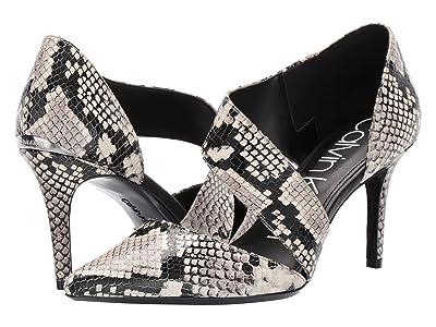 Calvin Klein Gella Pump (Natural Two-Tone Snake) High Heels