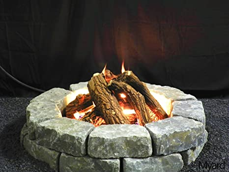 Amazon Com Maxred Myard Logs Only For 24 Diameter Fire Pit Fireplace 75000 Btu For Lp Ng Home Kitchen