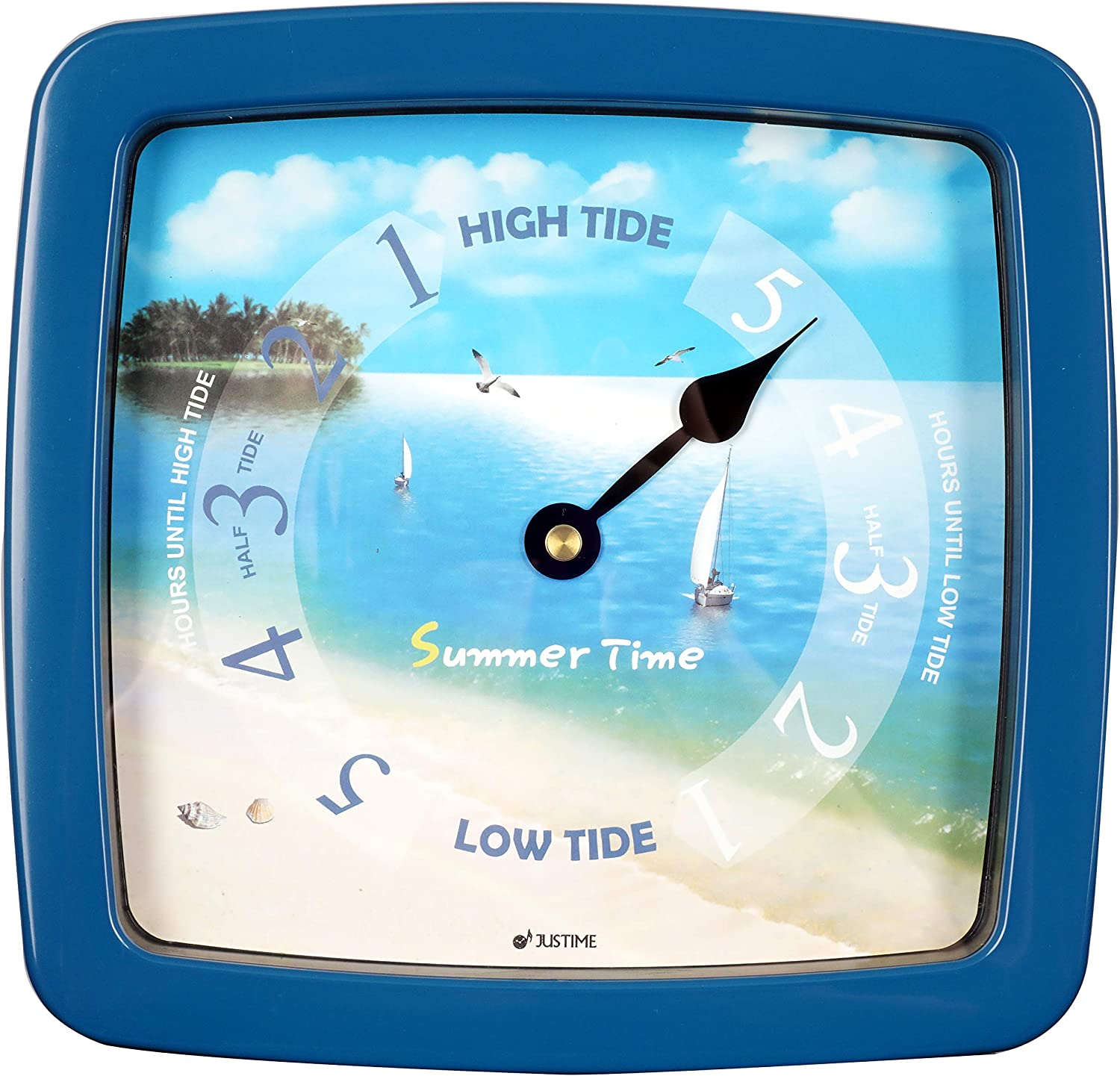 JUSTIME 8.5 Inch Tide Low price Clock Colorful Digital Graphics Designed Courier shipping free