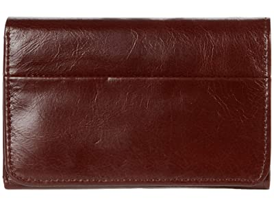 Hobo Jill Trifold Wallet (Chocolate) Clutch Handbags