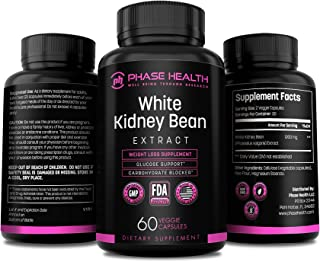 100% Pure White Kidney Bean Extract - Carb Blocker and Fat Absorber for Weight Loss - Phase Health