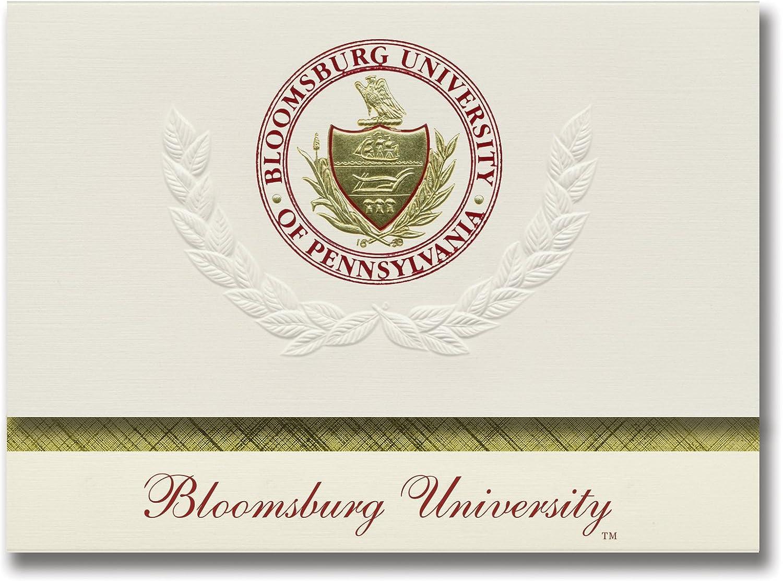 Signature Ankündigungen Bloomsburg Universität Universität Universität Graduation Ankündigungen, platin Stil, Elite Pack 20 mit Bloomsburg u. Dichtung Folie B0793GSDWC  | Stil  9455e9