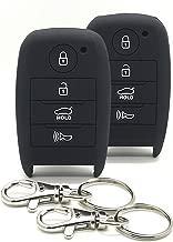 Good Life+Style 2 pcs KIA Smart Key Fob Covers for Keyless Remote with Snap Hooks   Set of 2 Kia Key Fob Protector Cases for 2014 2015 2016 2017 2018 2019 Forte Optima Rio Sedona Sorento Soul Sportage
