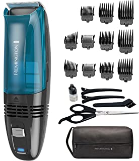 Remington Hc6550 Cordless Vacuum Haircut Kit, Vacuum Beard Trimmer, Hair Clippers for Men, 18Piece
