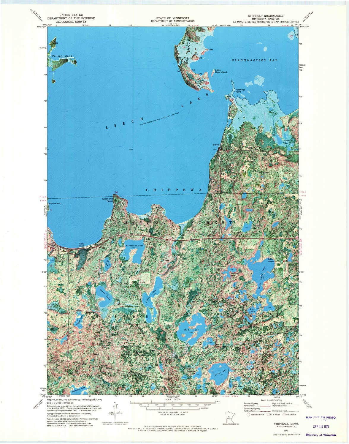 Sale YellowMaps Beauty products Whipholt MN topo map 7.5 X Scale Minute 1:24000