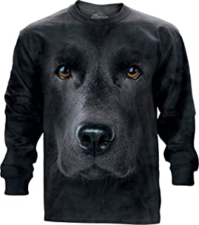 The Mountain Adult Long Sleeve T-Shirt - Black Lab Face S