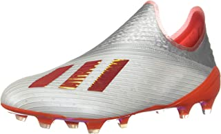 adidas Men's X 19+ FG Soccer Cleats (12, Silver/Red-M)