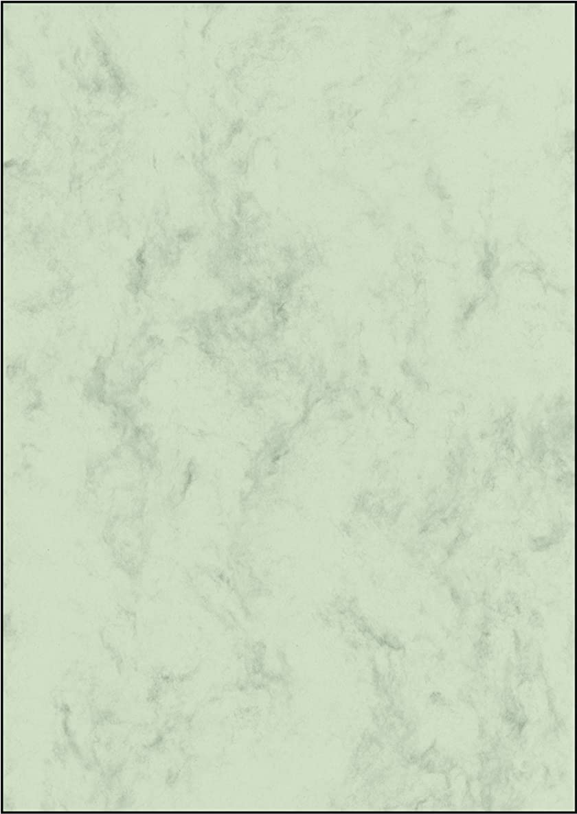 Sigel DP552 Marbled Writing Paper A4 Pastel Green, 200 GSM Double Sided (50 Sheets)