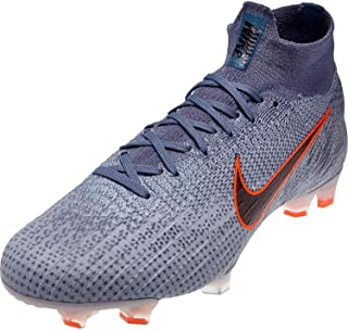 Nike Men's Superfly 6 Elite FG Soccer Cleats (Wolf Grey/Black/Armory Blue)
