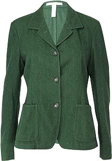 Massimo Alba Womens Wool Three Button Blazer Green Large
