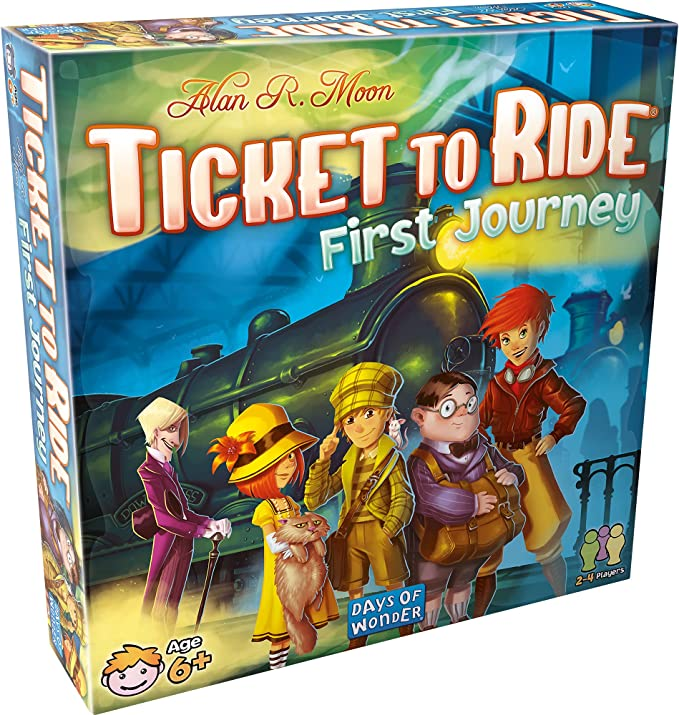 Ticket to Ride First Journey Board Game | Board Game for Kids | Family Board Game | Train Game | Ages 6+ | For 2 to 4 players | Average Playtime 15-30 minutes | Made by Days of Wonder