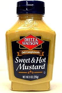 Dietz & Watson Sweet & Hot Mustard (Pack of 2) 9 oz Bottles
