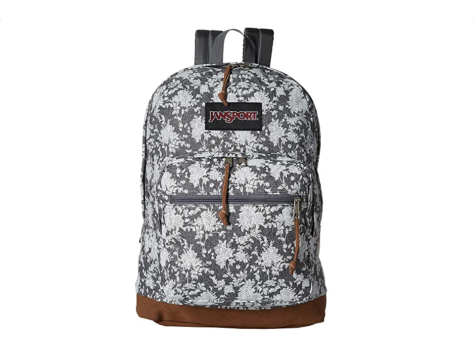 JanSport Right Pack Expressions (Grey Heather Floral) Backpack Bags