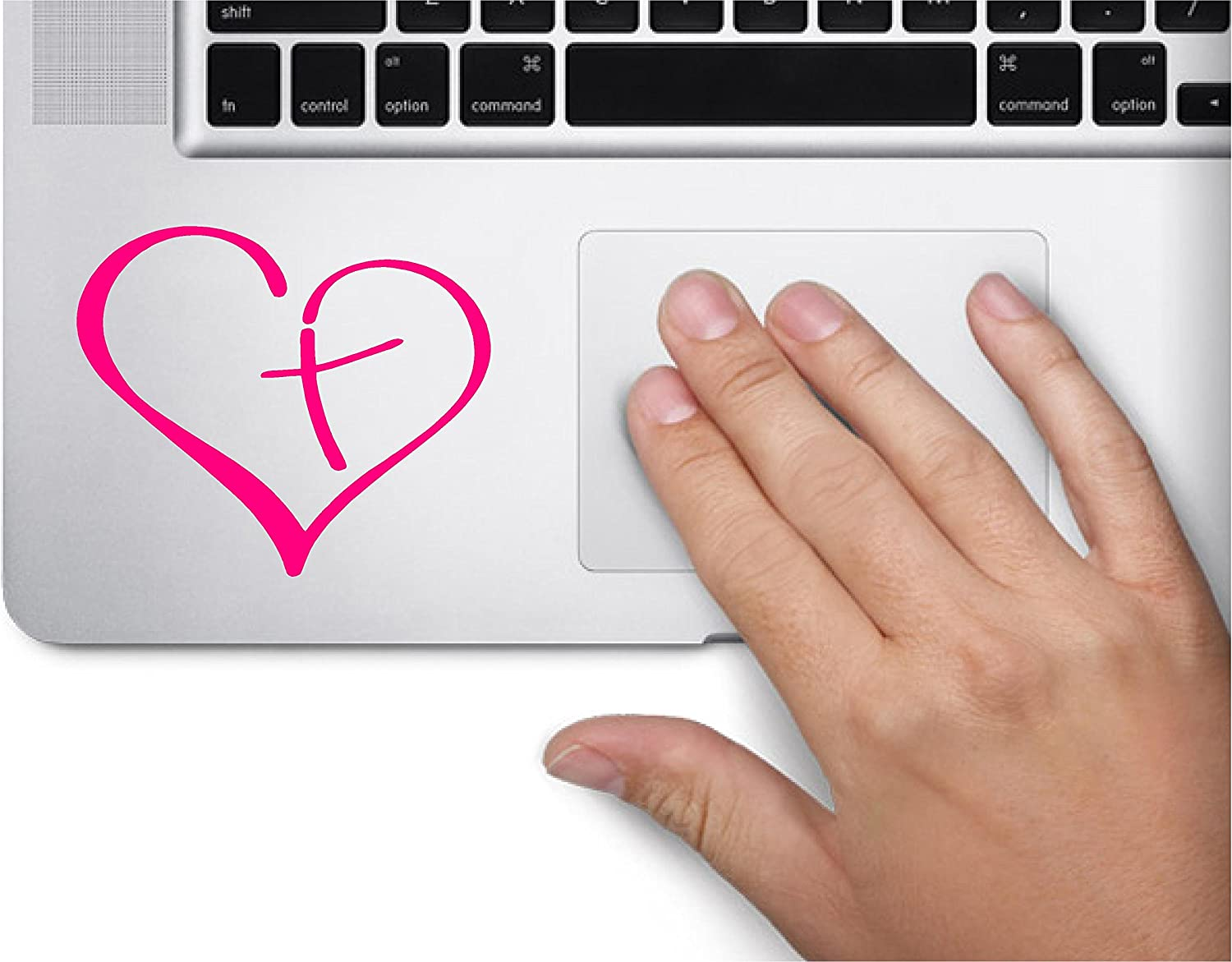 Heart with Cross Symbol Decal Funny Trackpad Skin Laptop Special price for a 55% OFF limited time Macbook