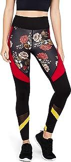 Marca Amazon - AURIQUE Leggings deportivos con paneles para mujer