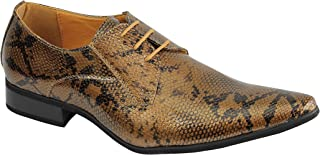 Xposed A1966H Mens Snakeskin Print Shiny Shoes
