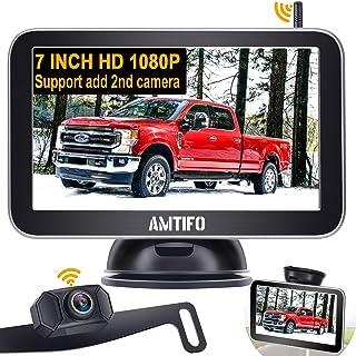 $125 » Backup Camera Wireless for Truck HD 1080P Car Bluetooth Backup Camera 7 Inch Monitor Rear View Camera Kit with Digital Sig...