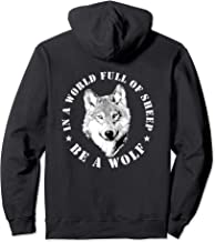 Wolves Inspiration Quote Wolf Leader Wolve Motivation Gift Pullover Hoodie
