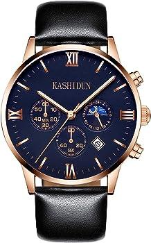 Kashidun Men's Casual Quartz Analog Waterproof Wrist Watch