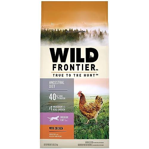 Amazon.com : WILD FRONTIER Indoor Adult Grain Free Dry Cat Food Chicken Flavor, 5 lb. Bag : Pet Supplies