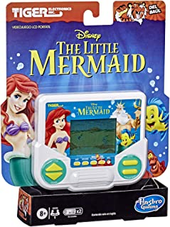 Hasbro Gaming Tiger Electronics Disney's The Little Mermaid Electronic LCD Video Game, Retro-Inspired Edition, Handheld 1-...