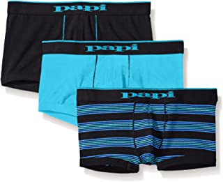 papi Men's 3-Pack Stripe/Solid Brazilian Trunk