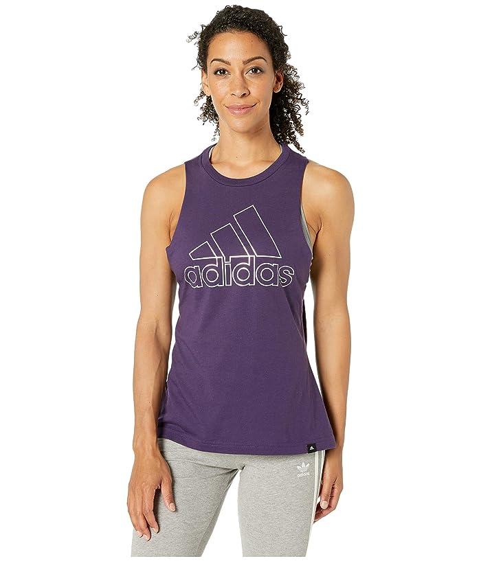 adidas Badge of Sport Iridescent Muscle Tank Top (Legend Purple) Women