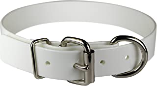 "OmniPet Sunglo Dee In front Pet Collar, 3/4"" x 16"", White"