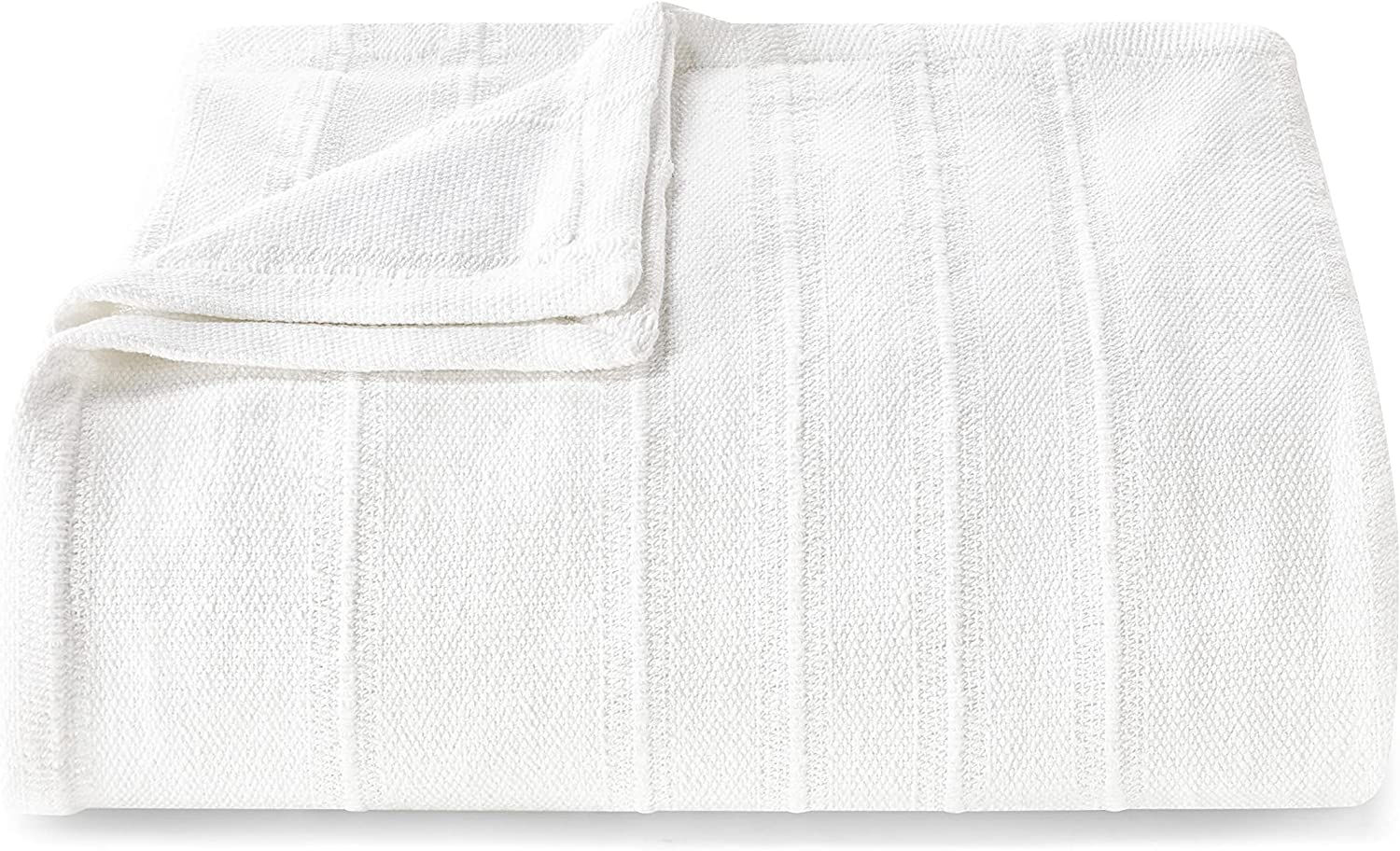 Vera New products Oakland Mall world's highest quality popular Wang Open Stripe Breath Blanket-100% Cotton Collection