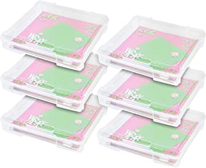 IRIS USA SBC-350E Portable Project and Scrapbook Case, Holds 12