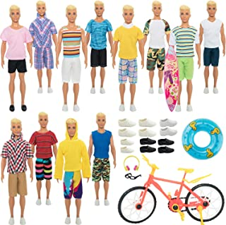 SOTOGO 41 Pieces Kens Clothes and Accessories for 12 Inch Boy Doll Include 12 Sets Doll Clothes/Casual Clothes/Jacket Pant...