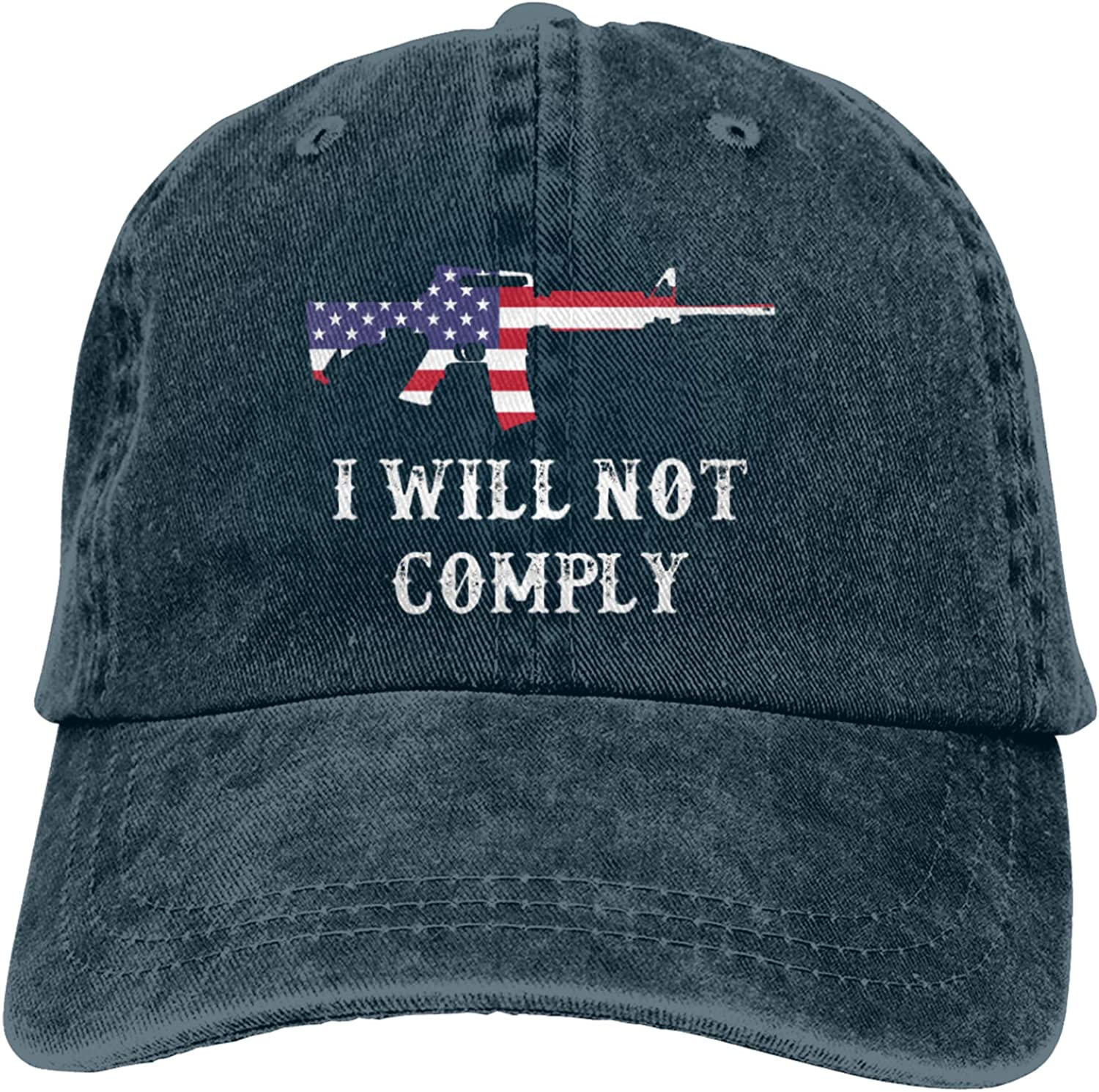 I Will Not Comply Hat,Unisex Retro Cowboy Hat Soft Breathable Cap Classic Adjustable Baseball Caps
