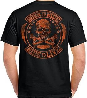 Biker Life USA Men's Born to Ride/Ride to Live T-Shirt