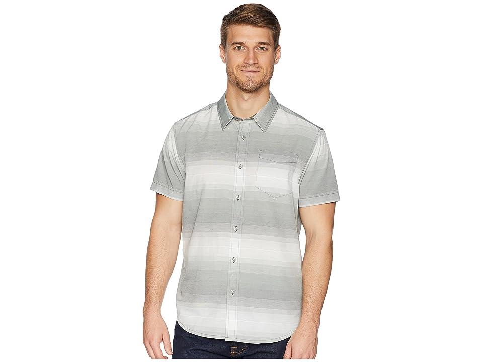 Prana Tamrack Stripe Short Sleeve (Gravel) Men