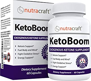 KetoBoom #1 Exogenous Ketones Diet Pills | Burn Fat for Energy with Ketosis | Keto BHB Salts Boost Energy and Support Weig...