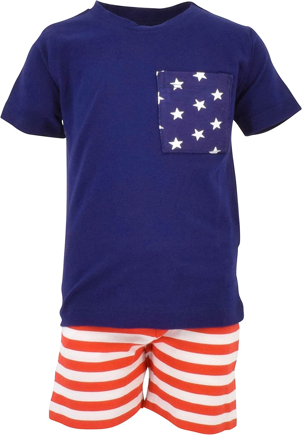 Unique Baby Boys Patriotic 4th 2-Piece Summer Outfit July 1 year warranty Limited price of