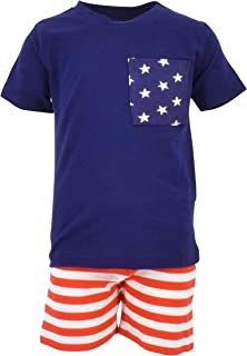 Unique Baby Boys Patriotic 4th of July 2-Piece Summer Outfit
