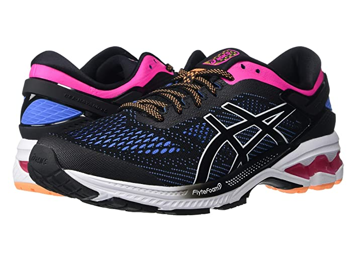 ASICS GEL-Kayano(r) 26 (Black/Blue Coast) Women's Running Shoes