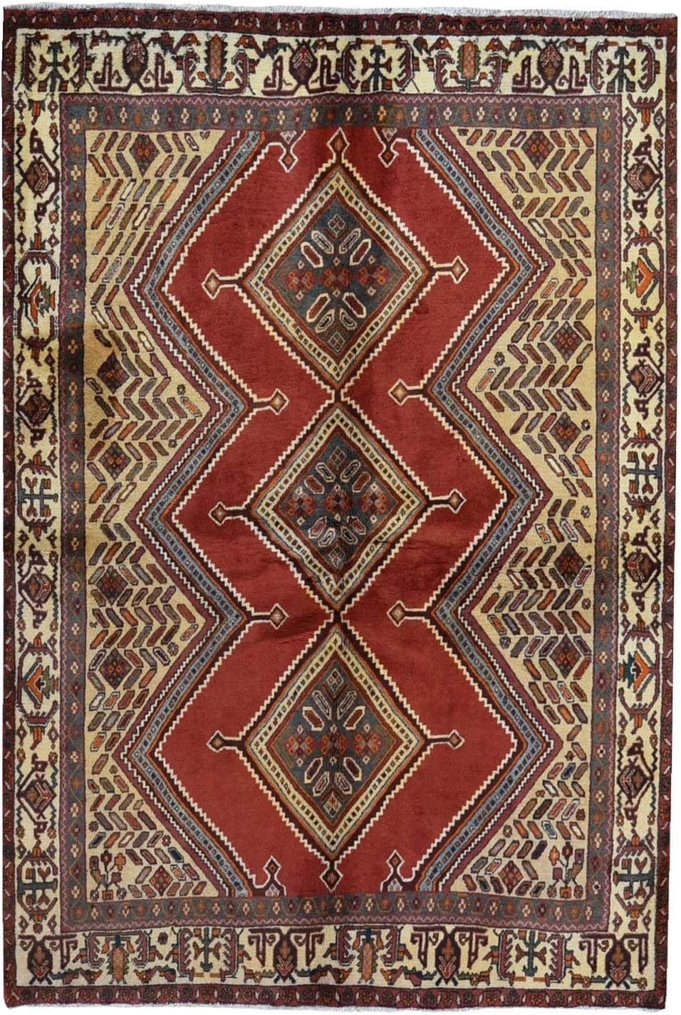 Shahbanu Rugs New Farsian Serrated Challenge the lowest price of Japan Limited time cheap sale Baktiarjoon Design Medallion