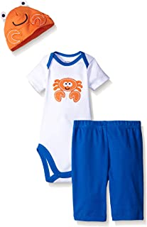 Gerber Baby Boys' 3-Piece Bodysuit, Cap, and Pant Set