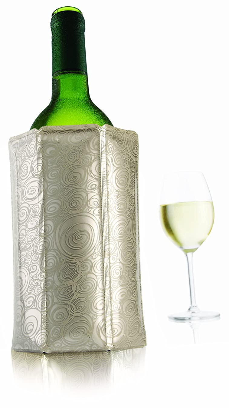 Vacu Vin 38805626 Rapid Ice Active Cooler Wine Bottle Chilling Sleeve, Standard, Platinum