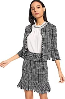 Best tweed top and skirt set Reviews