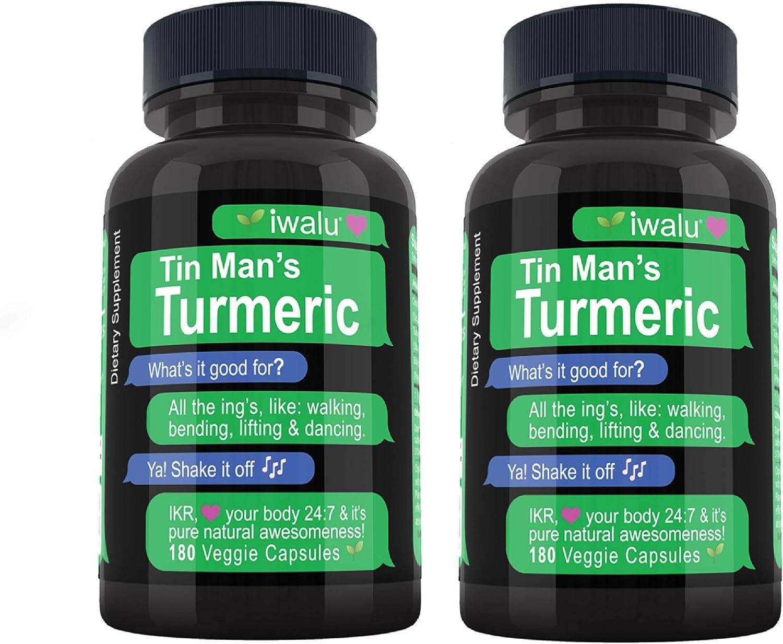 Iwalu Turmeric Curcumin with 100% quality warranty! Bioperine: Natural Sup quality assurance Best Support