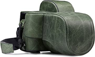 MegaGear MG1341 Ever Ready Genuine Leather Case and Strap with Battery Access for Fujifilm X-E3 Camera Green