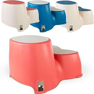 Marche pour les tout-petits Marche-pied double pour les enfants The Friendly Whale Formation amusante aux toilettes de salle de bain Marche dappui pour les tout-petits Tabouret de toilette