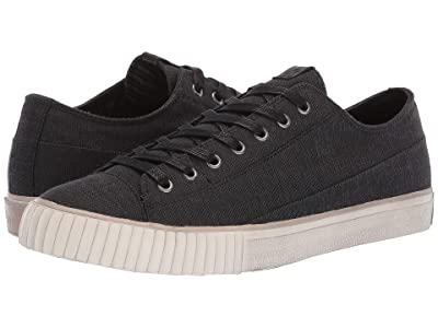 John Varvatos Two-Tone Blended Fabric Low Top (Black) Men