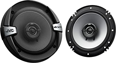 JVC CS-DR162 DRVN Series 6.5 Inch 2-Way 300 Wats Car Speakers (Coaxial)- Set of 2 (Black) with horn ring sound enhancer photo
