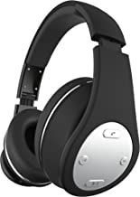 SHARPER IMAGE SBT557BK Universal Bluetooth Wireless HD Headphones With Mic, Volume Control, Foldable, Compatible with All Devices black