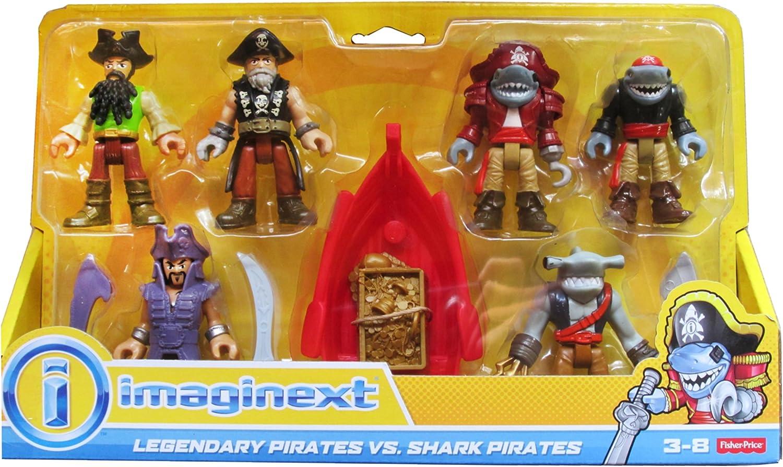 FisherPrice Imaginext  Legendary Pirates vs. Shark Pirates Figure Set